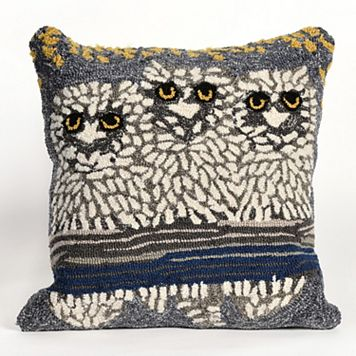 Liora Manne Owls Night Throw Pillow