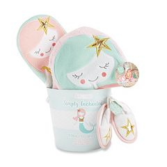 Baby Girl Baby Aspen Simply Enchanted Mermaid 4-Piece Bathtime Gift Set