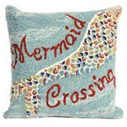 Liora Manne Mermaid Crossing Water Throw Pillow