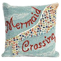 Liora Manne Mermaid Crossing Water Throw Pillow