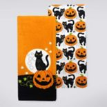 Celebrate Halloween Together Cat Kitchen Towel 2-pk.