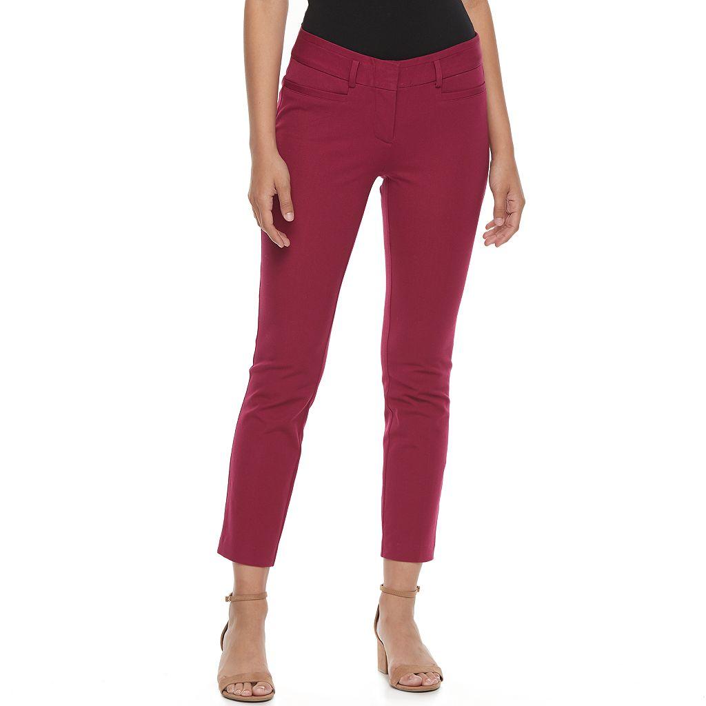 Juniors' Candie's® Audrey Straight-Leg Ankle Pants