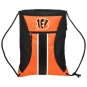 Forever Collectibles Cincinnati Bengals Striped Zipper Drawstring Backpack