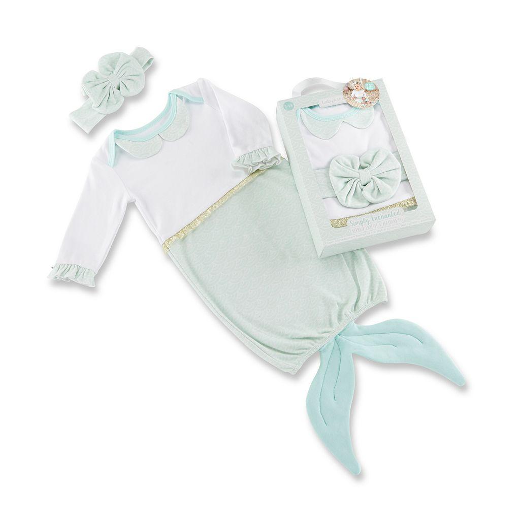Baby Girl Baby Aspen Simply Enchanted Mermaid 2-Piece Layette Set