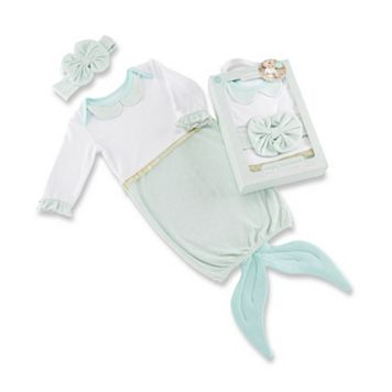 Baby Girl Baby Aspen Simply Enchanted Mermaid 2-Piece Layette Set