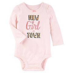 Baby Girl OshKosh B'gosh 'New Girl in Town' Graphic Bodysuit
