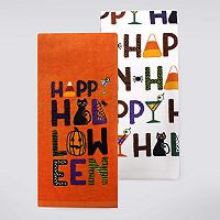 Celebrate Halloween Together Happy Halloween Kitchen Towel 2-pk.