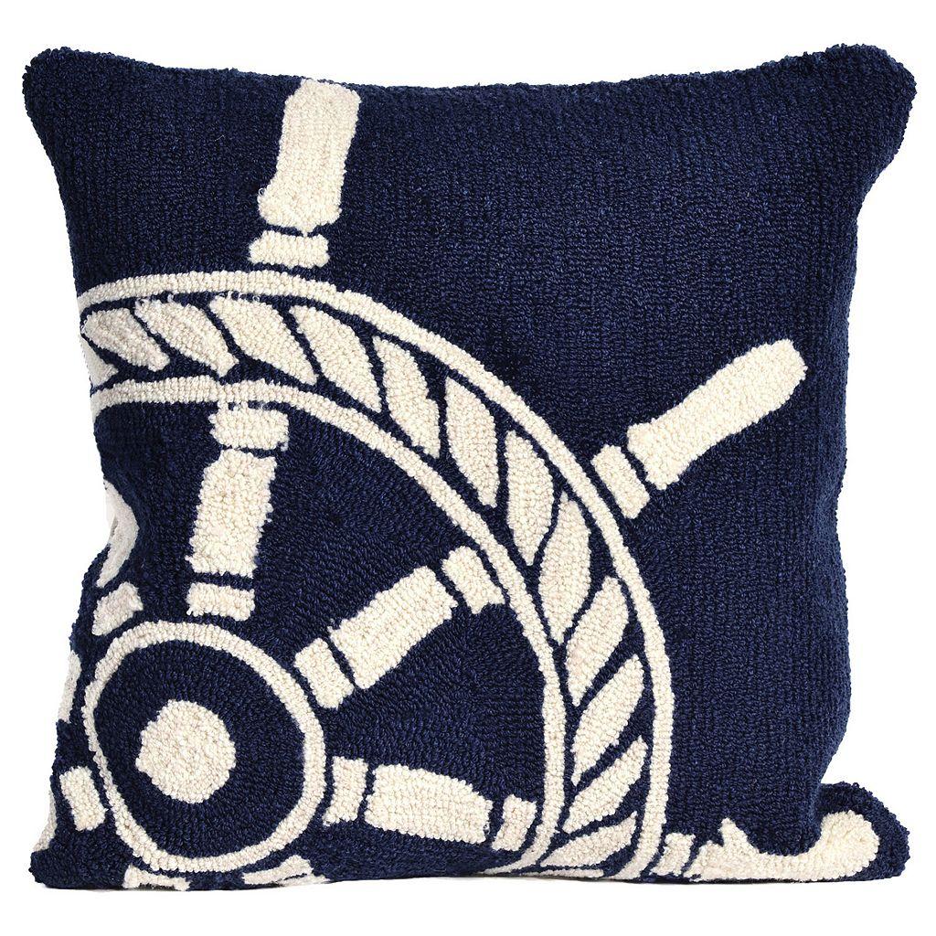 Liora Manne Ship Wheel Throw Pillow