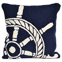 Liora Manne Ship Wheel Throw Pillow