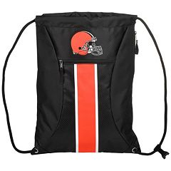 Forever Collectibles Cleveland Browns Striped Zipper Drawstring Backpack