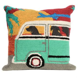 Liora Manne Beach Trip Sunset Throw Pillow