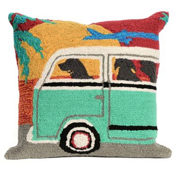 Liora Manne Beach Trip Sunset Throw Pillow
