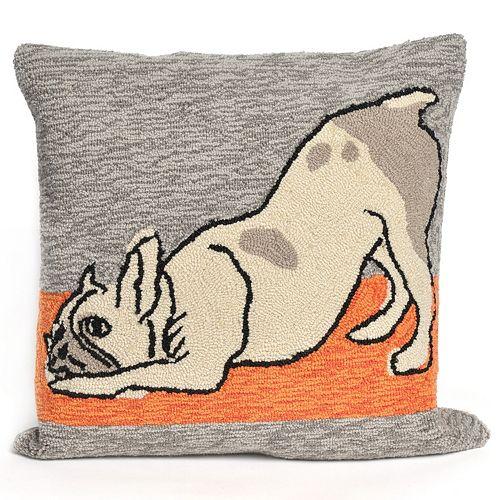 Liora Manne Yoga Dog Heather Throw Pillow