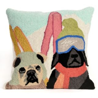 Liora Manne Ski Patrol Throw Pillow
