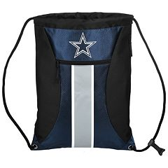 Forever Collectibles Dallas Cowboys Striped Zipper Drawstring Backpack