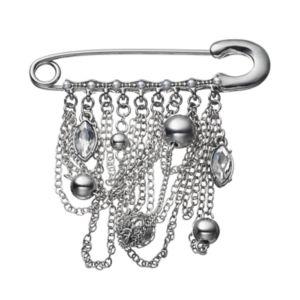Simply Vera Vera Wang Draping Chain Safety Pin