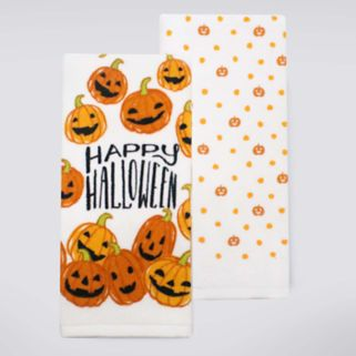 Celebrate Halloween Together Pumpkin Toss Kitchen Towel 2-pk.