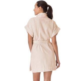 Women's Stan Herman Short Sleeve Terry Wrap Robe