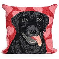 Liora Manne Puppy Love Valentine Throw Pillow