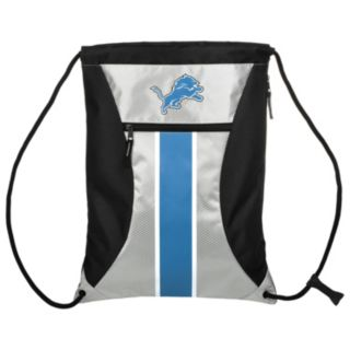 Forever Collectibles Detroit Lions Striped Zipper Drawstring Backpack