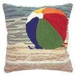Trans Ocean Imports Liora Manne Life's A Beach Indoor Outdoor Throw Pillow