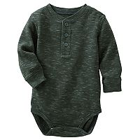 Baby Boy OshKosh B'gosh® Gray Thermal Slubbed Bodysuit