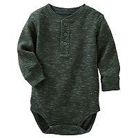Baby Boy OshKosh B'gosh® Gray Thermal Slubbed Bodysuit