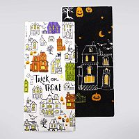 Celebrate Halloween Together Haunted House Kitchen Towel 2-pk.