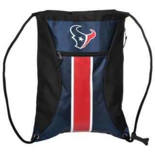 Forever Collectibles Houston Texans Striped Zipper Drawstring Backpack
