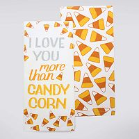 Celebrate Halloween Together Candy Corn Kitchen Towel 2-pk.