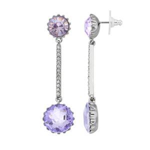 Simply Vera Vera Wang Purple Double Stone Nickel Free Linear Drop Earrings