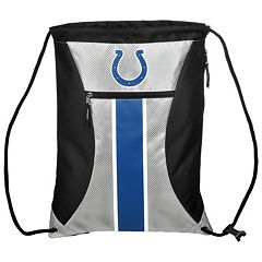 Forever Collectibles Indianapolis Colts Striped Zipper Drawstring Backpack