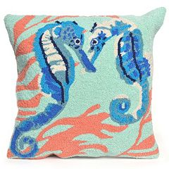 Liora Manne Seahorses Throw Pillow