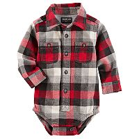 Baby Boy OshKosh B'gosh® Red Plaid Flannel Bodysuit