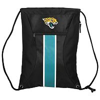 Forever Collectibles Jacksonville Jaguars Striped Zipper Drawstring Backpack