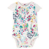 Baby Girl OshKosh B'gosh Floral Pattern Flutter Sleeve Bodysuit