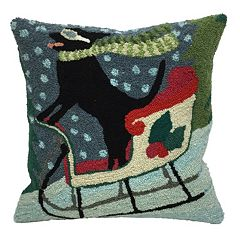 Liora Manne Sledding Dog Throw Pillow