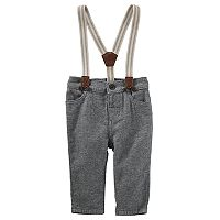 Baby Boy OshKosh B'gosh® Pull-On Pants with Suspenders