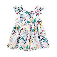 Baby Girl OshKosh B'gosh Floral Flutter Sleeve Dress