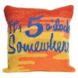 Liora Manne It's O'Clock Sunset Throw Pillow