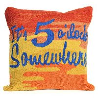Liora Manne It's O'Clock Sunset Throw Pillow