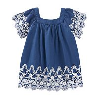 Baby Girl OshKosh B'gosh® Embroidered Trapeze Dress