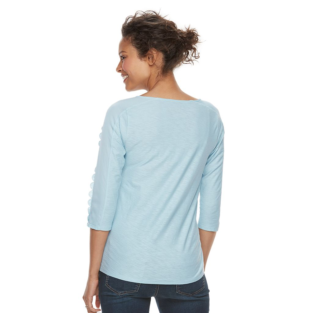 Maternity a:glow Scallop-Trim Tee