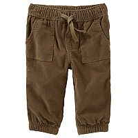 Baby Boy OshKosh B'gosh® Brown Corduroy Pull-On Pants