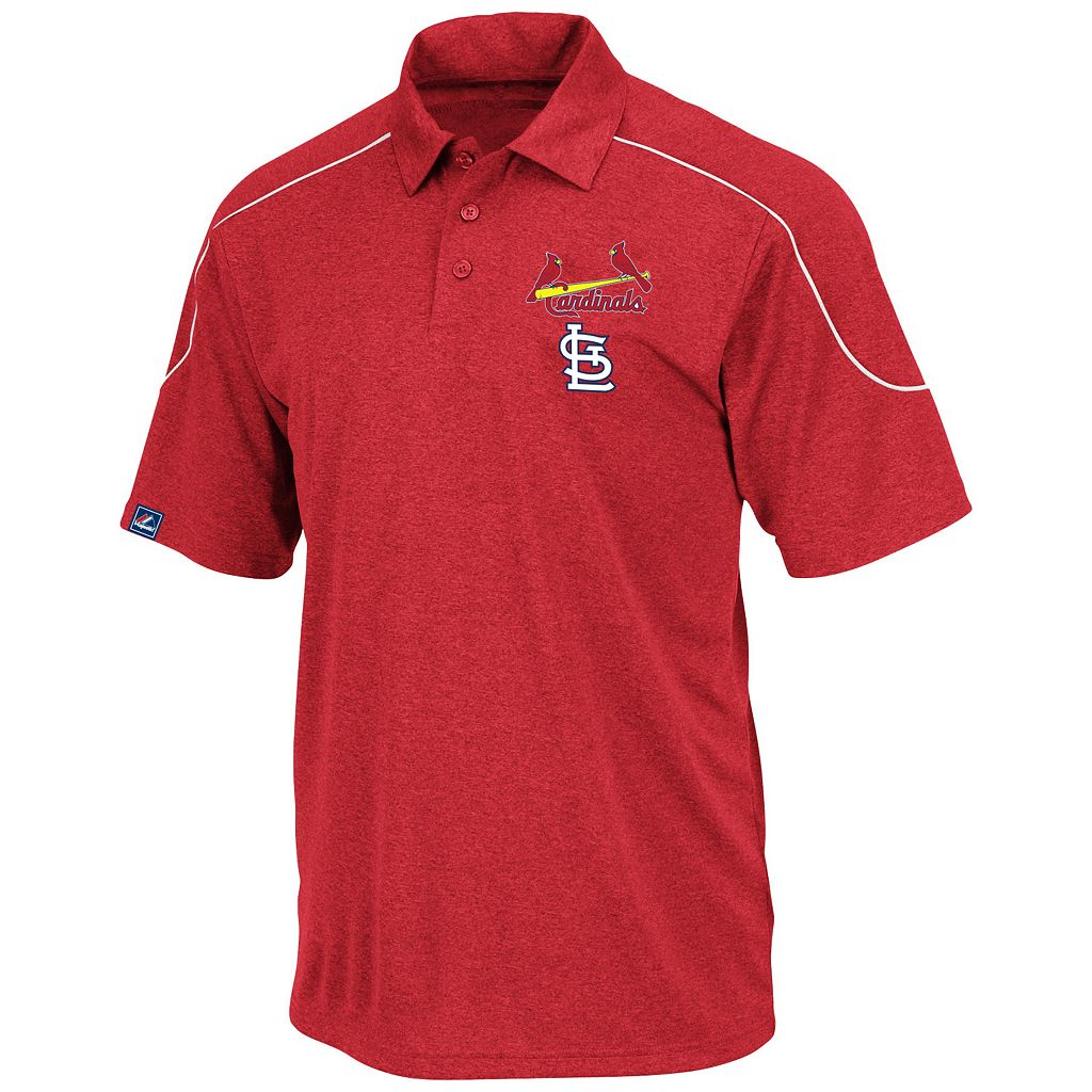 Big & Tall Majestic St. Louis Cardinals Birdseye Polo