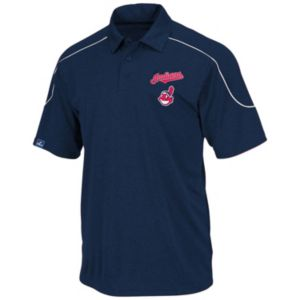 Big & Tall Majestic Cleveland Indians Birdseye Polo