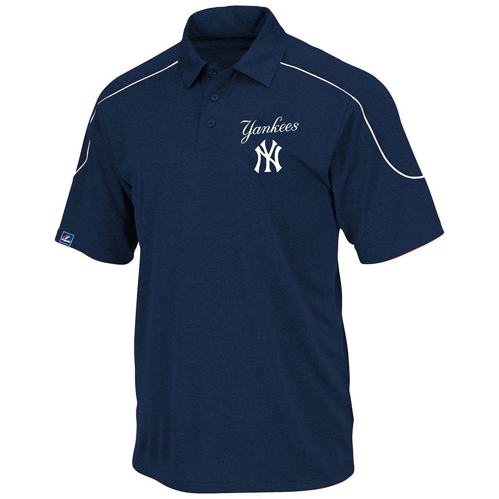 Big & Tall Majestic New York Yankees Birdseye Polo