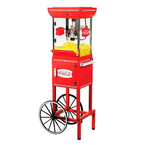 Nostalgia Electrics Limited Edition Coca-Cola Kettle Popcorn Cart
