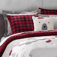 Cuddl Duds Polar Bears Flannel Comforter Set