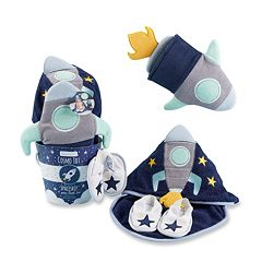 Baby Boy Baby Aspen Cosmo Tot Spaceship 4 pc Bathtime Gift Set